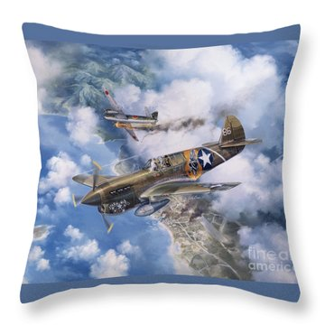 One Off At Darwin Throw Pillow by Randy Green