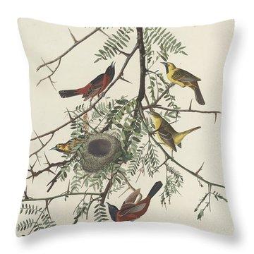 Orchard Oriole Throw Pillow by John James Audubon