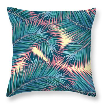 Palm Trees  Throw Pillow by Mark Ashkenazi