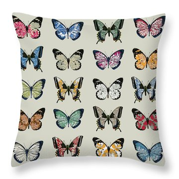 Papillon Throw Pillow by Sarah Hough