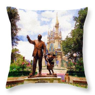 Partners Throw Pillow by Sandy MacGowan