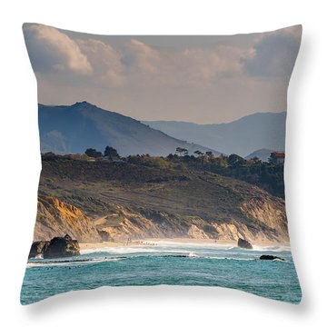 Throw Pillow featuring the photograph Pays Basque by Thierry Bouriat