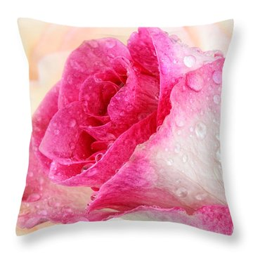 Pink Throw Pillow by Mark Johnson