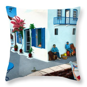 Premonition Throw Pillow by Snake Jagger