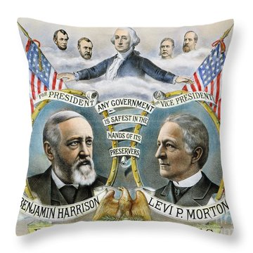 Presidential Campaign, 1888 Throw Pillow by Granger