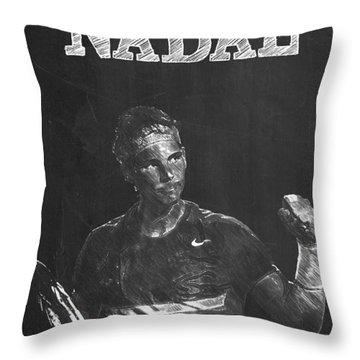 Rafael Nadal Throw Pillow by Semih Yurdabak