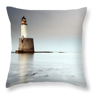 Rattray Head Lighthouse  Throw Pillow by Grant Glendinning