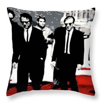 Reservoir Dogs Throw Pillow by Luis Ludzska