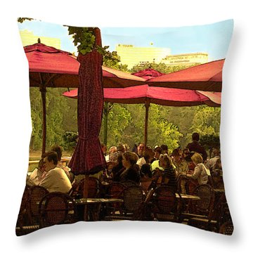 Restaurant In Georgetown Throw Pillow by Madeline Ellis