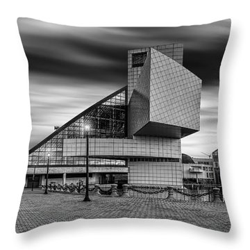 Rock And Roll Hall Of Fame  Throw Pillow by James Dean
