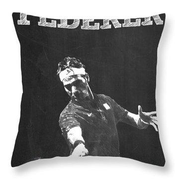 Roger Federer Throw Pillow by Semih Yurdabak