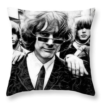 Roger Mcguinn The Byrds Collection Throw Pillow by Marvin Blaine