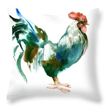 Rooster Throw Pillow by Suren Nersisyan