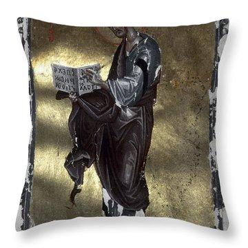 Saint Luke Throw Pillow by Granger