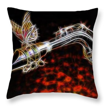 Saxophone Collection With Special Guest Throw Pillow by Marvin Blaine