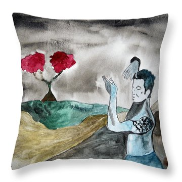 Scott Weiland - Stone Temple Pilots - Music Inspiration Series Throw Pillow by Carol Crisafi
