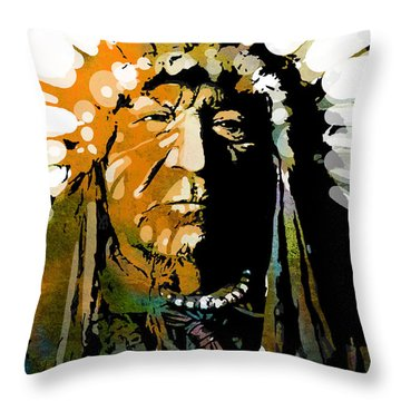 Sitting Bear Throw Pillow by Paul Sachtleben