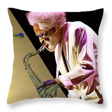 Sonny Rollins Collection Throw Pillow by Marvin Blaine