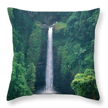 Sopoaga Falls Throw Pillow by Kyle Rothenborg - Printscapes