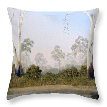 Still Creek Throw Pillow by John Cocoris