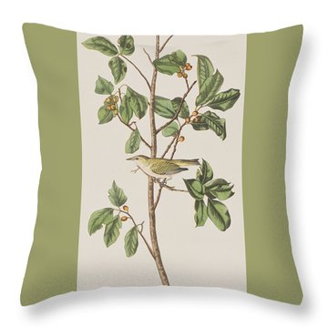 Tennessee Warbler Throw Pillow by John James Audubon