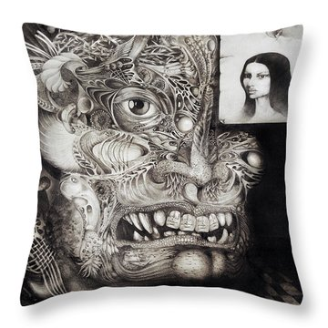 The Beast Of Babylon Throw Pillow by Otto Rapp