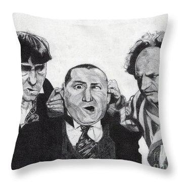 The Boys Throw Pillow by Jeff Ridlen