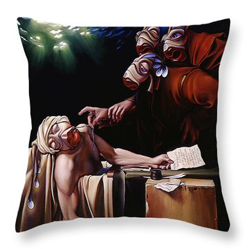The Death Of Mullet Throw Pillow by Patrick Anthony Pierson