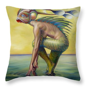 The Finandromorph Throw Pillow by Patrick Anthony Pierson