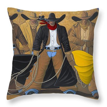 The Posse Throw Pillow by Lance Headlee