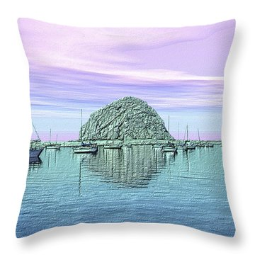 The Rock Throw Pillow by Kurt Van Wagner