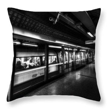 The Underground System Throw Pillow by David Pyatt