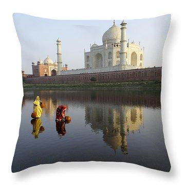 Timeless Taj Mahal Throw Pillow by Michele Burgess