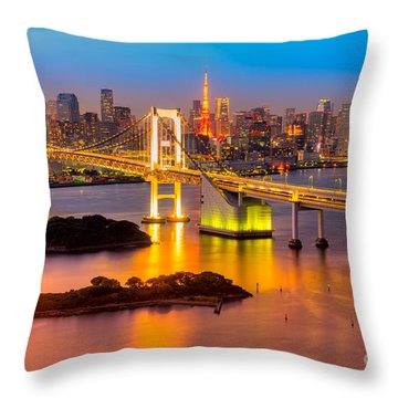 Tokyo - Japan Throw Pillow by Luciano Mortula