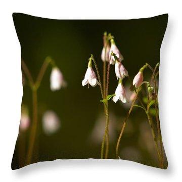 Twinflower Throw Pillow by Jouko Lehto