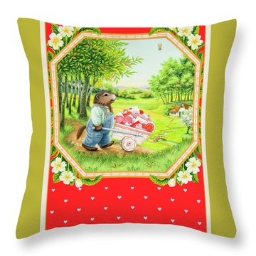 Valentine Delivery Throw Pillow by Lynn Bywaters