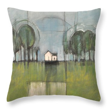 White House Throw Pillow by Tim Nyberg
