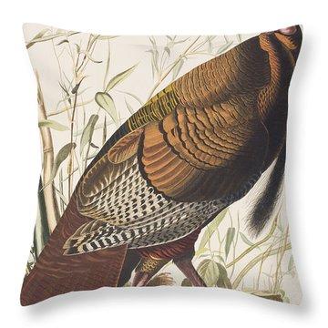 Wild Turkey Throw Pillow by John James Audubon