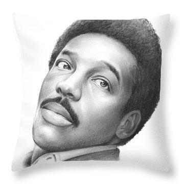 Wilson Pickett Throw Pillow by Greg Joens