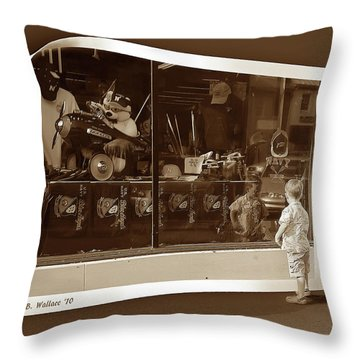 Window Dreaming Throw Pillow by Brian Wallace