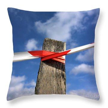 Wooden Post Throw Pillow by Bernard Jaubert