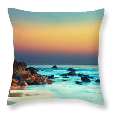 Sunset Throw Pillow by MotHaiBaPhoto Prints