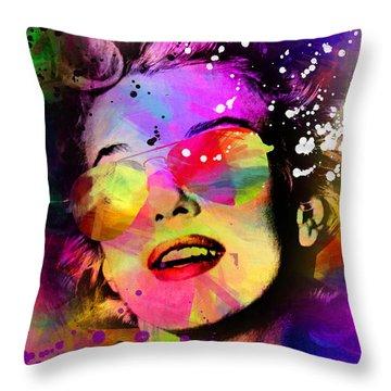 Marilyn Monroe  Throw Pillow by Mark Ashkenazi