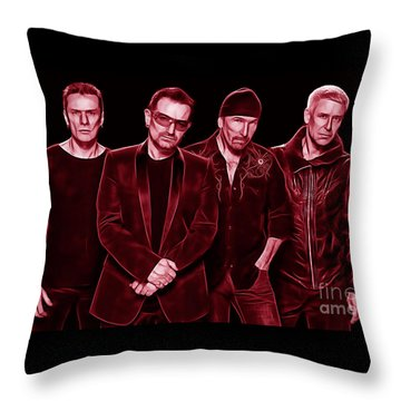 U2 Collection Throw Pillow by Marvin Blaine