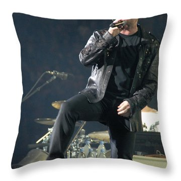 U2 Throw Pillow by Jenny Potter
