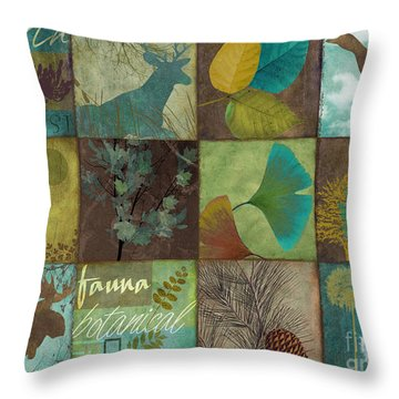 12 Days In The Woods Throw Pillow by Mindy Sommers