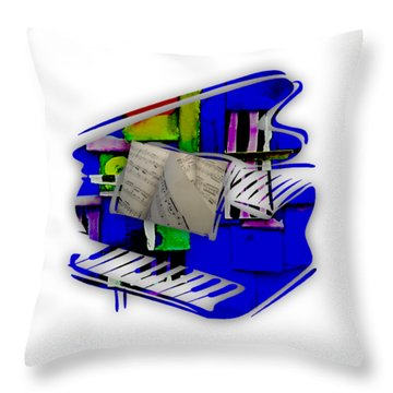 Piano Collection Throw Pillow by Marvin Blaine