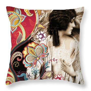 Goddess Throw Pillow by Chris Andruskiewicz