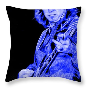 Stevie Ray Vaughan Collection Throw Pillow by Marvin Blaine