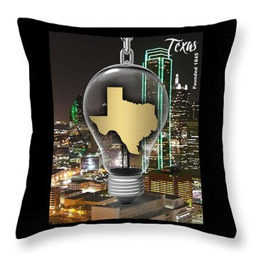 Texas State Map Collection Throw Pillow by Marvin Blaine